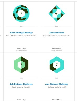 Need to mix things up? Check out the regular Strava Challenges
