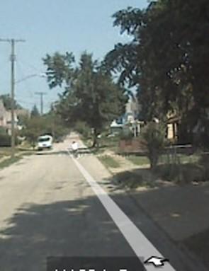 An everyday scene in suburban America