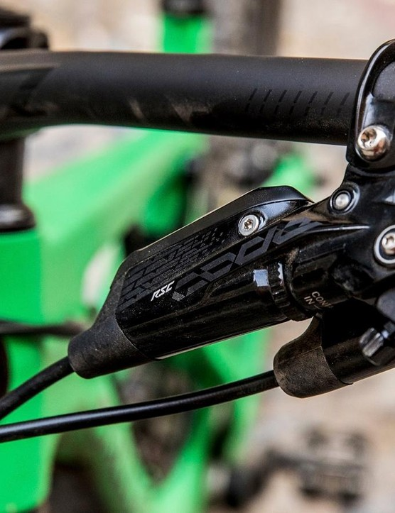 The Code lever sits just above the new RockShox Reverb remote which you'll find on each and every Strega