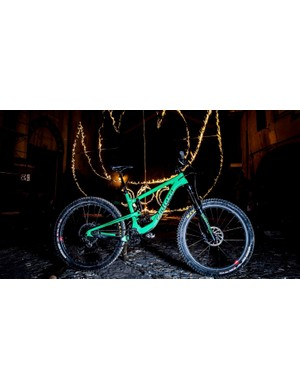 The symbol of fire illuminates the latest big hitting trail bike from Juliana in the town where the marketing team conjured up the name