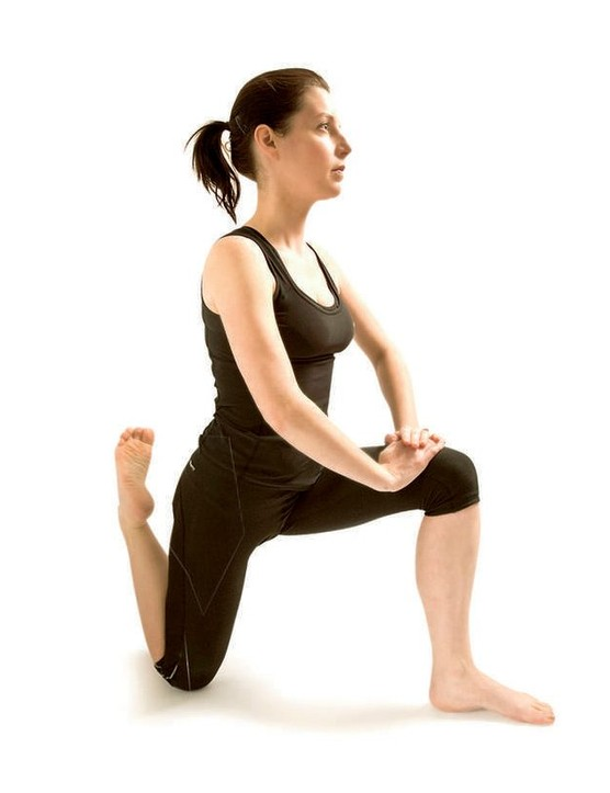 Quad stretch for cyclists