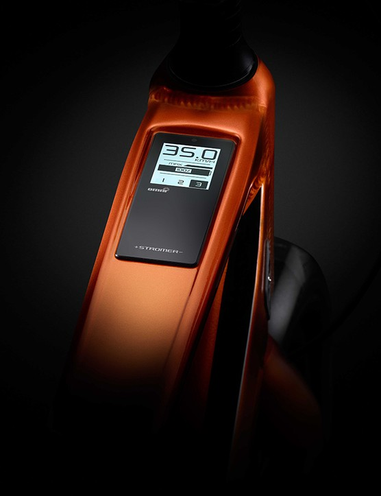 Like other Stromer bikes, the control panel sits cleanly in the top tube