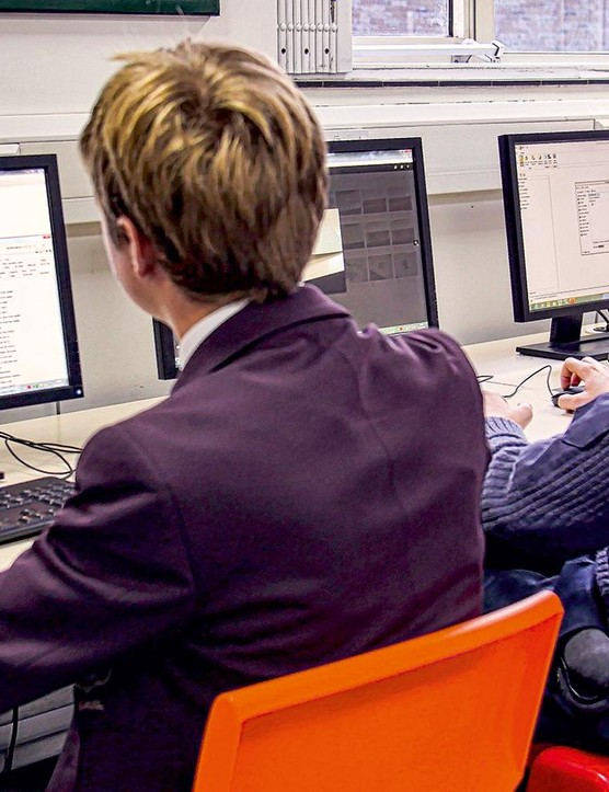 Pupils use Computer Aided Design software to lay out geometry and aesthetics