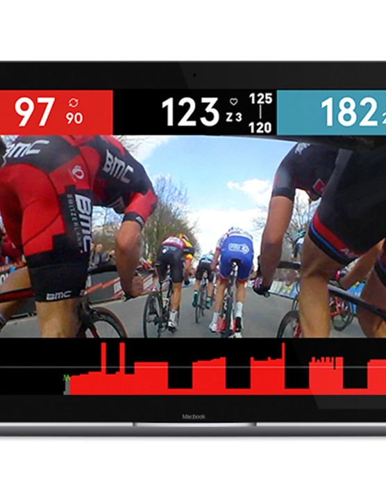 The Sufferfest Training Centre App is an interactive training tools with integrated race video