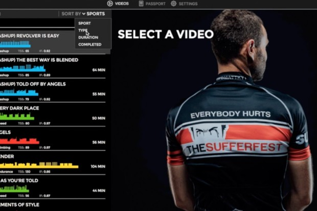 Through the new app, users will have access to The Sufferfest's entire video library