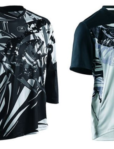 The RSX and Gustov off road jerseys were inspired by Frank Miller's Sin City graphics.