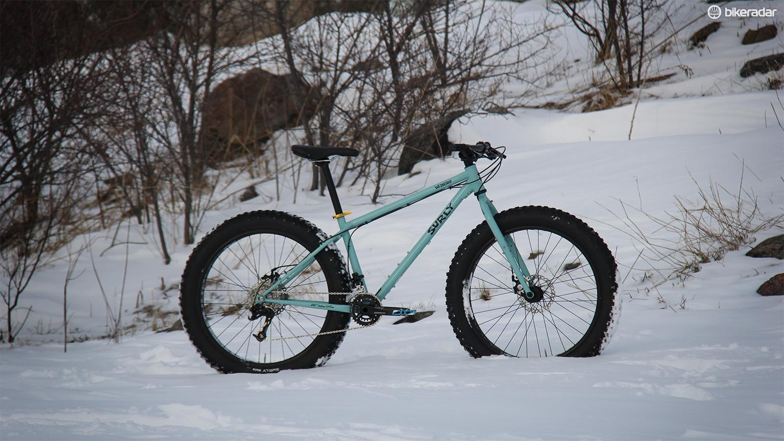 The Surly Wednesday isn't quite as fat at the Ice Cream Truck, but it's more fun on singletrack