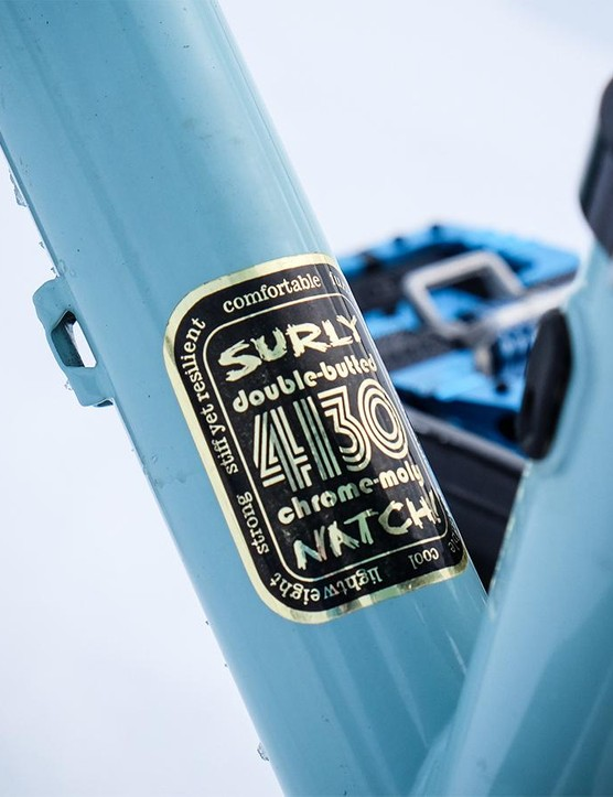Like all of Surly's models, the Wednesday is fabricated from 4130 steel tubing