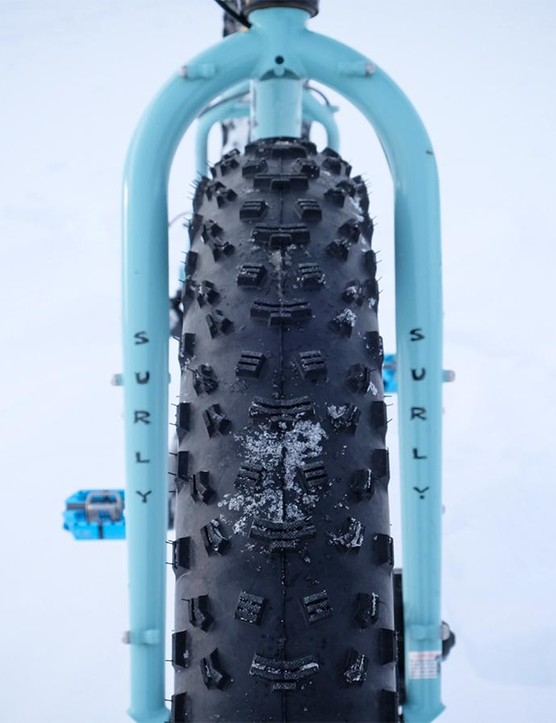 Surly's Nate tires are good, but stiff, the 27tpi version that come stock on the Wednesday doesn't fully maximize the tread's potential to garner grip