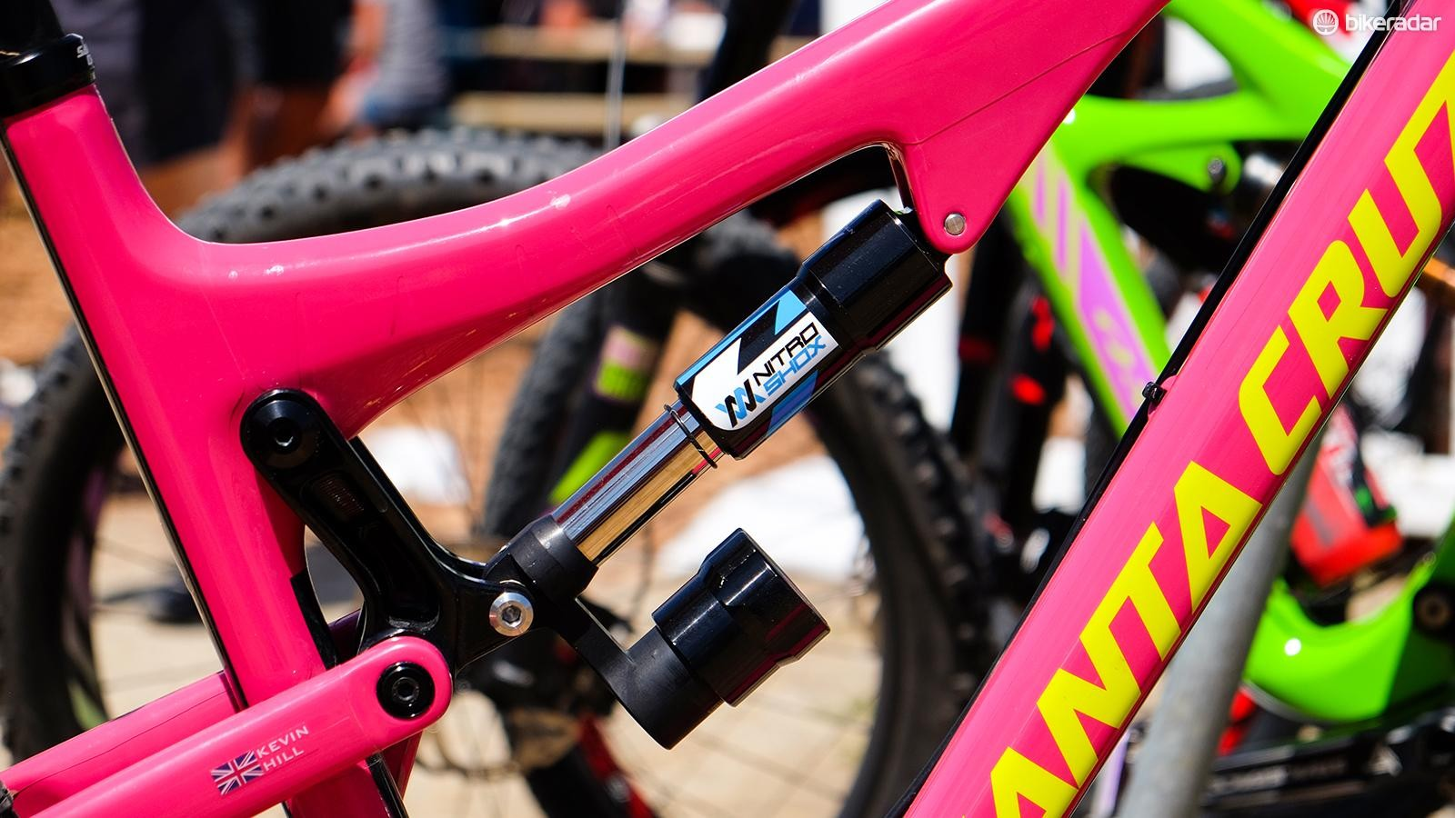 NitroShox is a small UK-based company with a different take on suspension design. This shock uses a nitrogen-filled shock similar to the struts used in military and aviation applications. It's firm until it encounters impacts of a certain velocity