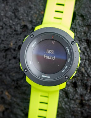 The watch picked up a GPS signal so fast we didn't have time to snap a photo