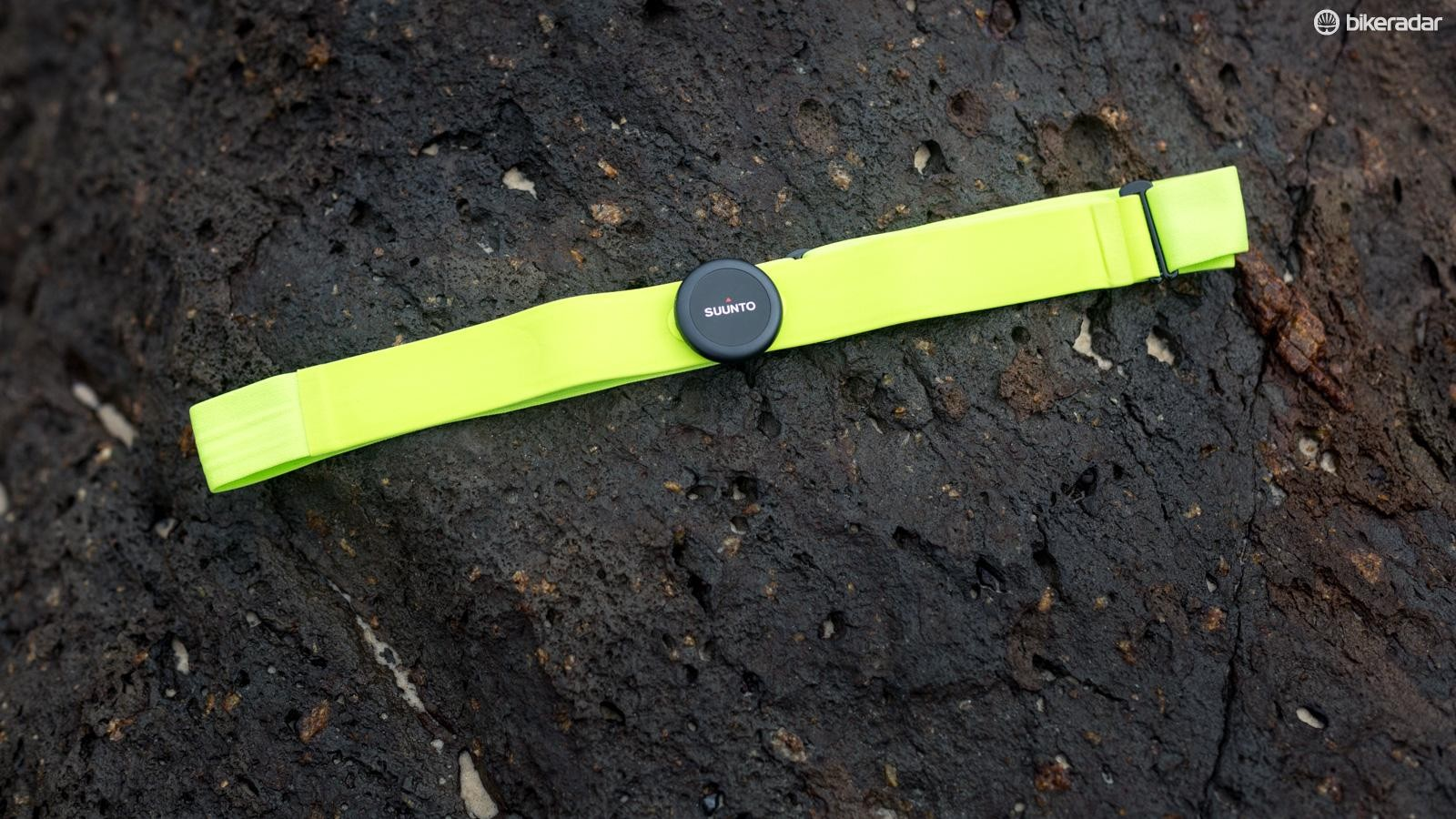 Suunto sent over their Bluetooth heart rate strap, but the watch will also connect to third party sensors