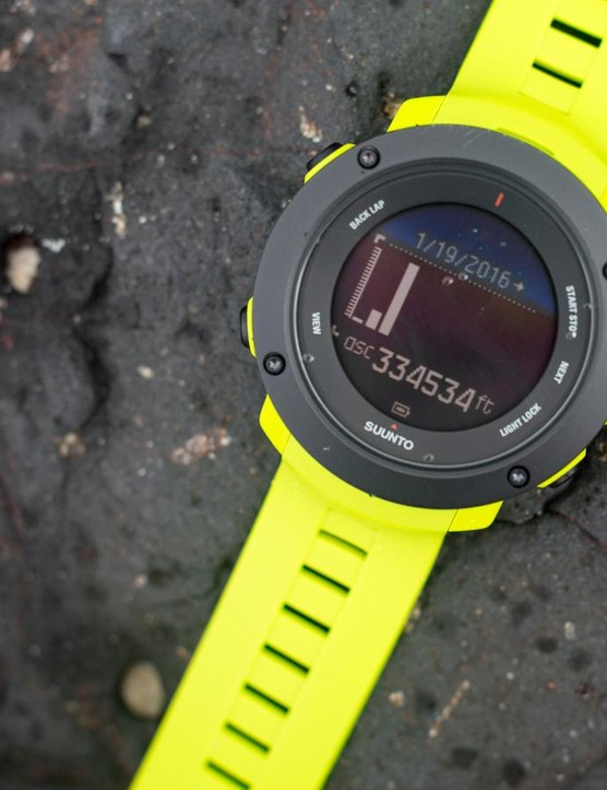 The watch tracks your daily, weekly, monthly and yearly altitude totals