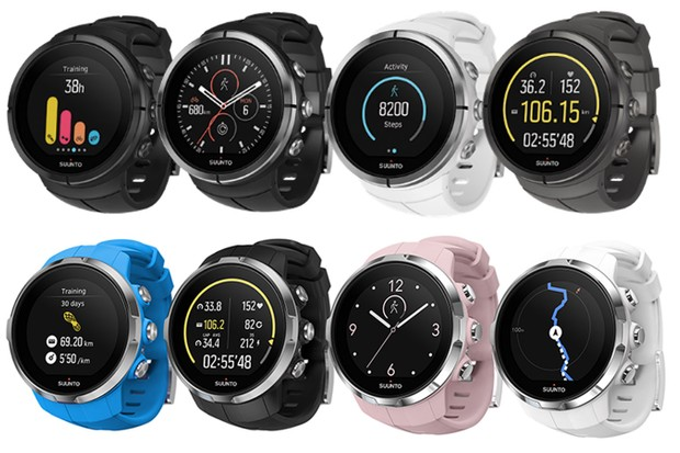 Suunto's latest GPS watches: the Spartan Ultra (top) and Sport (bottom)