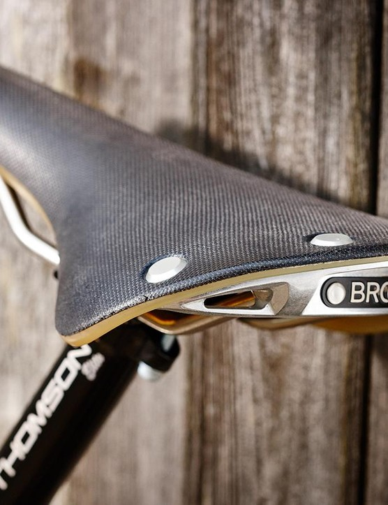 The Brooks Cambium saddle is a classy and comfortable place to spend your time