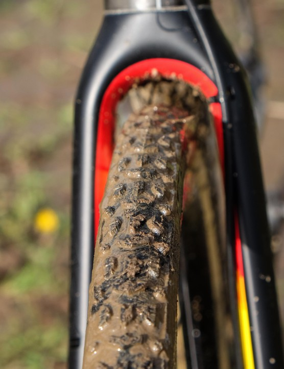 Nys relied on Dugast Typhoons to get him through the thick Portland mud