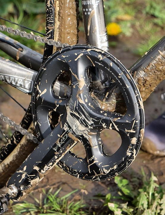Milling down a 50t chainring makes a very elegant bashguard