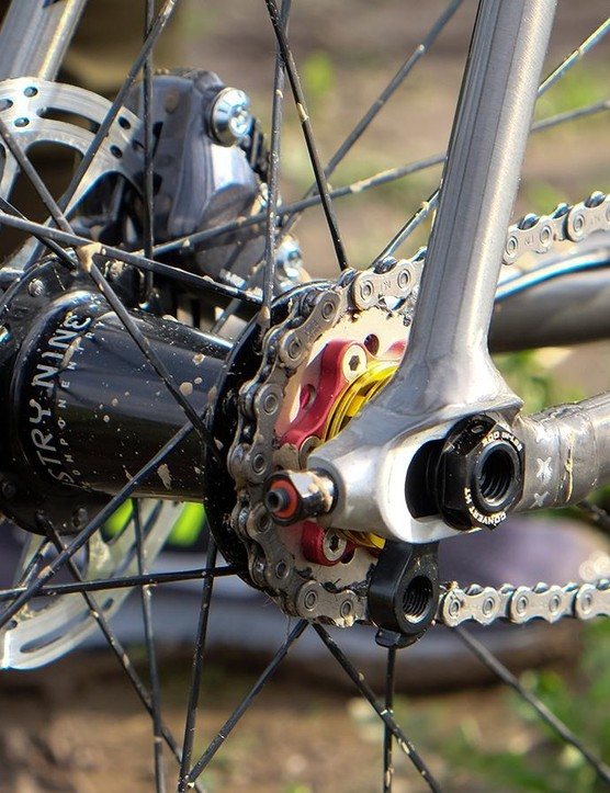 A Problem Solvers 17t cog and Industry 9 rear hub helped Nys put the power down