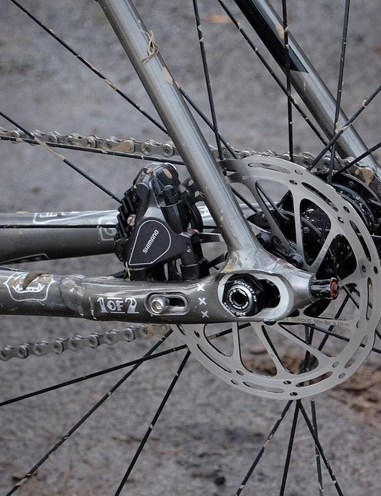 Trek's Stranglehold chain tensioning system and flat-mount disc brake