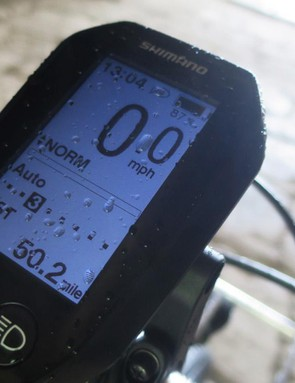 The Shimano Steps head unit shows plenty of information