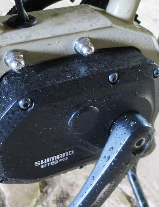 The Reyolds 631 tubes are welded to the Steps-specific fittings where the bottom bracket should be