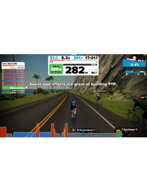 Zwift now has a Workout feature that is calibrated on your FTP