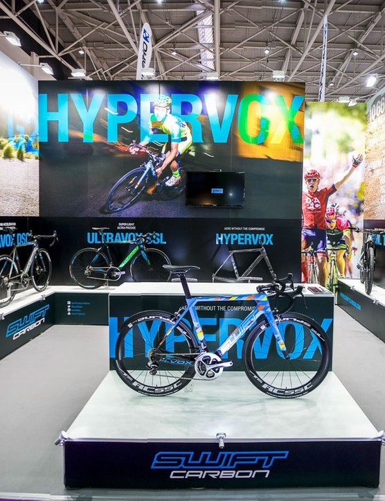 The SwiftCarbon booth at the 2016 Taipei Cycle Show