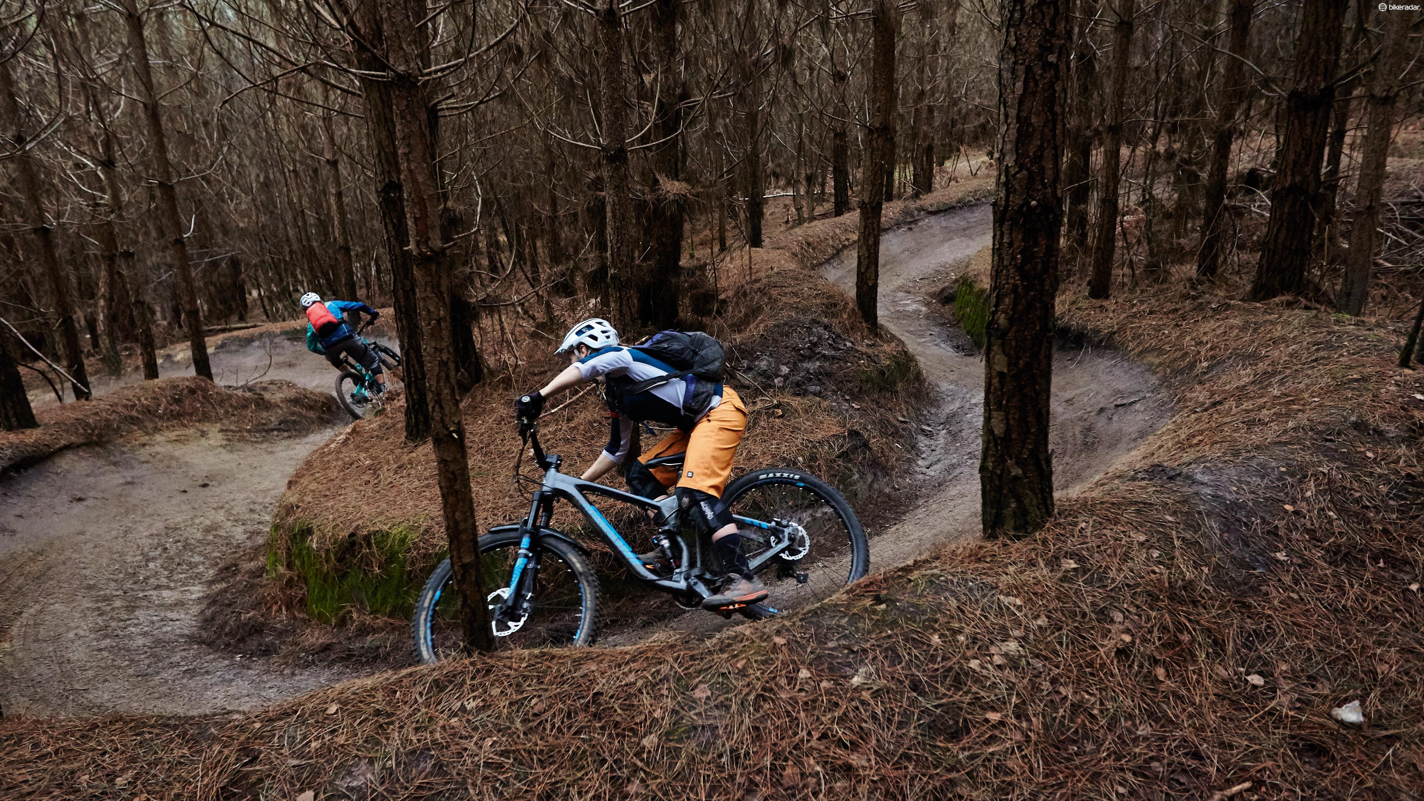 There may not be great elevation, but it's used effectively at Swinley Forest