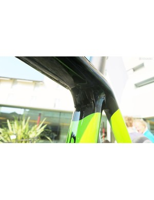 The new seat clamp is based on the SuperX with its under the top tube entry point