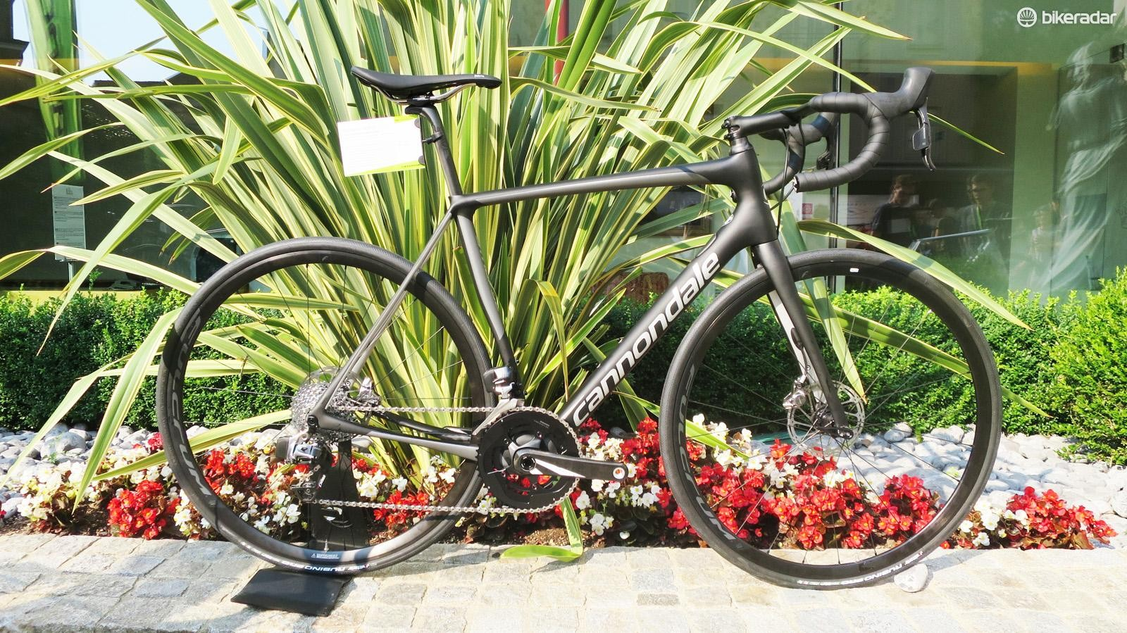 The lower level Synapse carbon frame now comes in some high-end builds, such as this SRAM eTap model