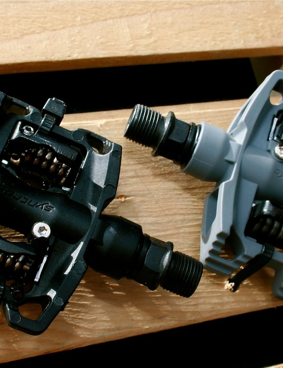 Spy shot! Syncros clipless pedals.
