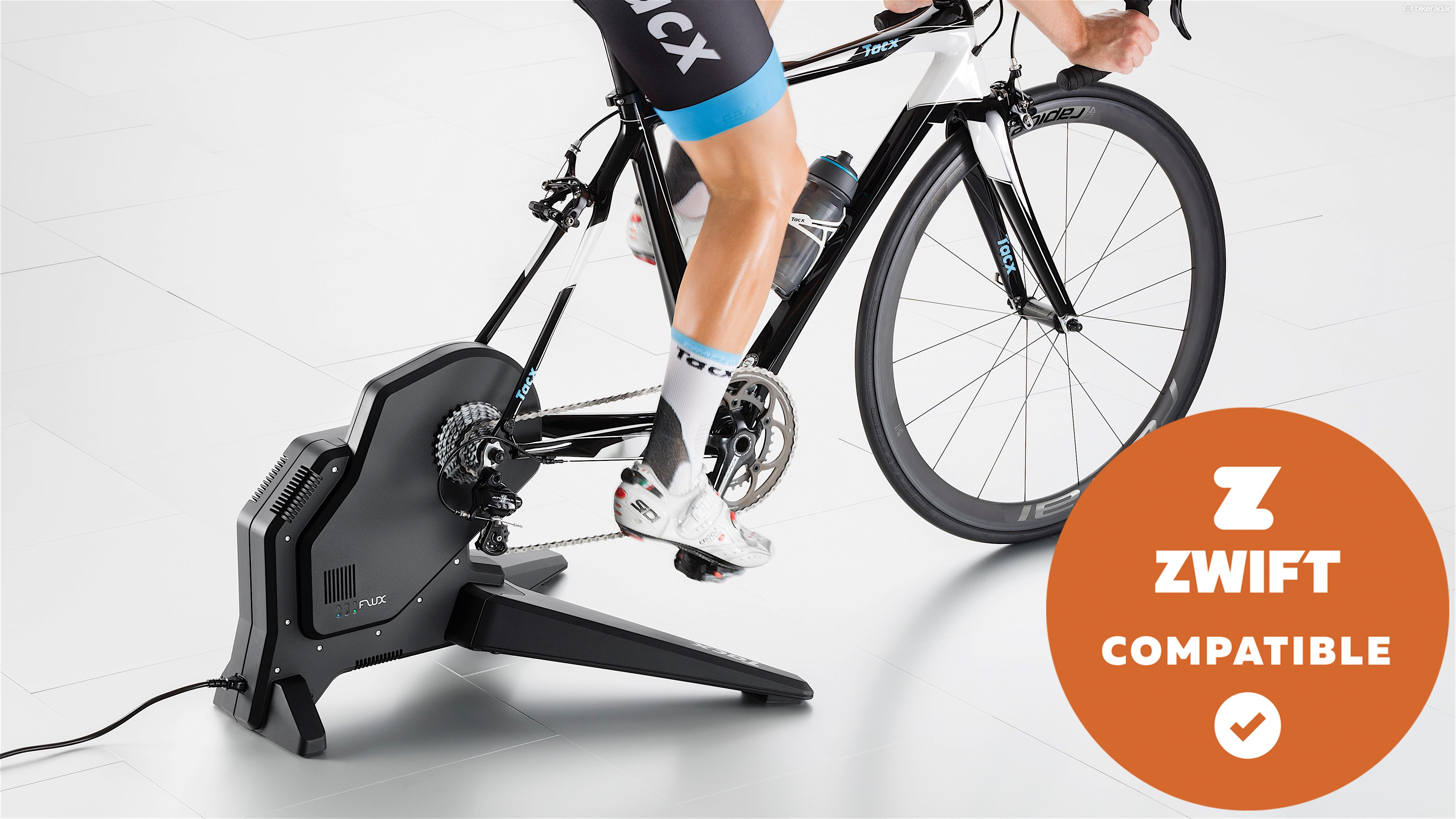 The resistance of a smart trainer is controlled by software such as Zwift