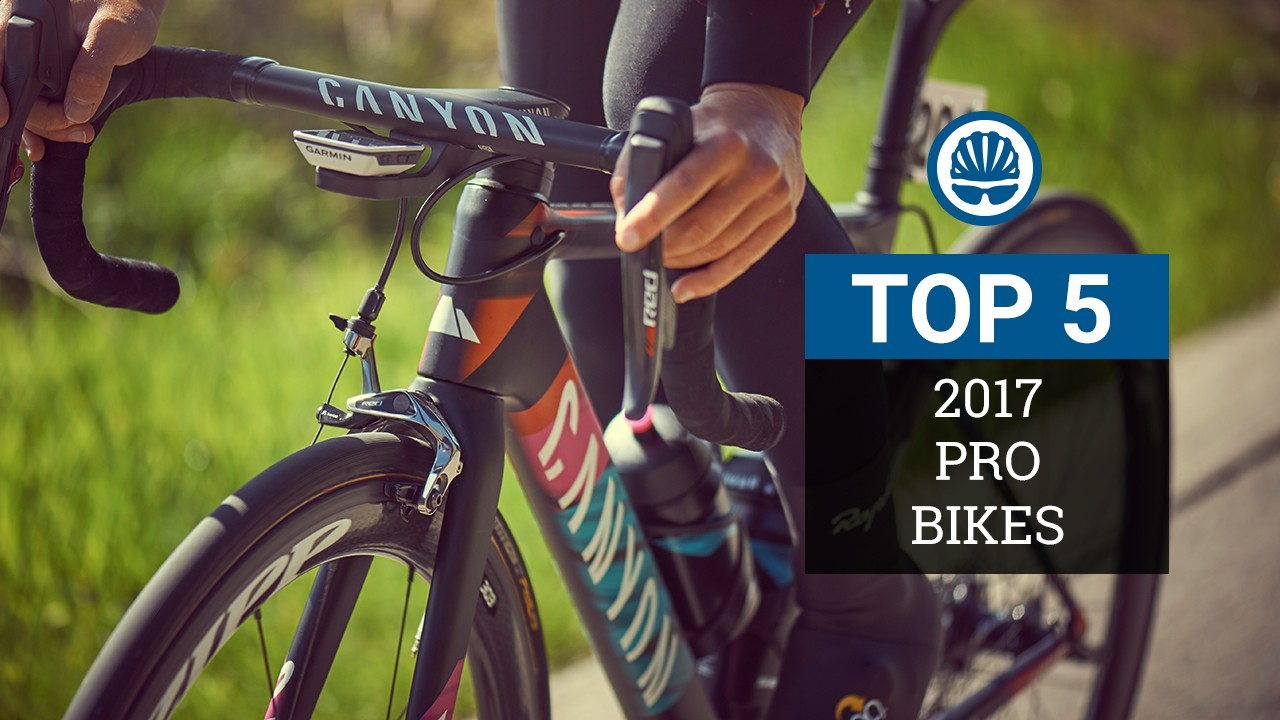 We've chosen five of the most interesting professional road bikes to feature in the 2017 peloton