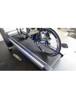 The light tracks either side of Tacx's new Magnum treadmill feed you information on your efforts