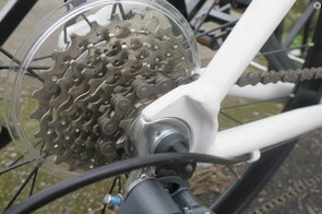 Simplicity is the key with the RIP's Shimano 8-speed Claris drivetrain