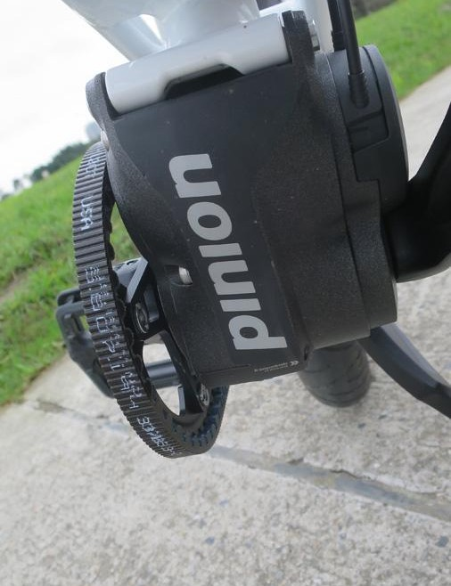 The Pinion unit is just one of many drivetrain options on the Quinn