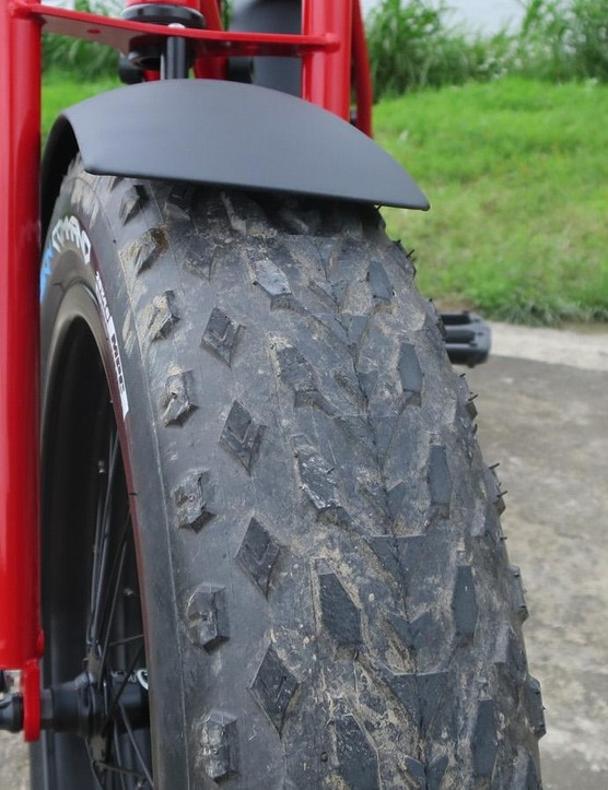 Tyres like these you'd usually expect on an ATV