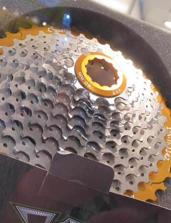KCNC's fancy titanium and alloy MTB cassette