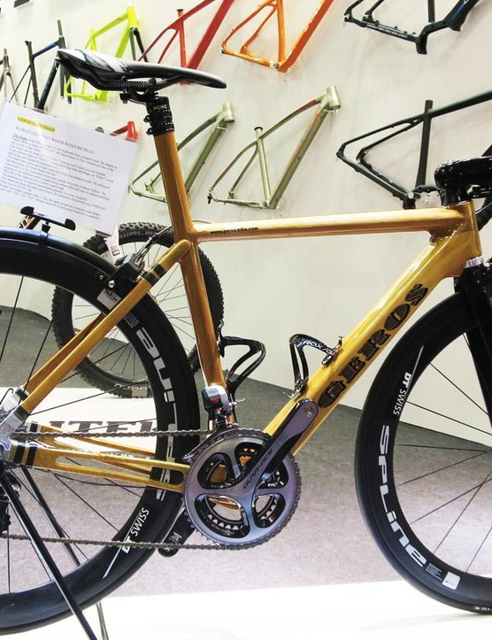This Geros frame is made from New Zealand 'Kauri' wood, which is nigh on extinct in nature