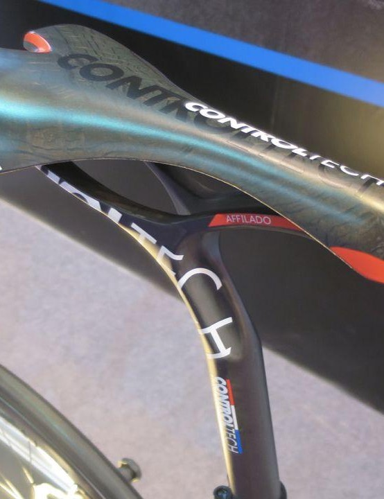 Control Tech's Affilado saddle/post combo looks suitably mad