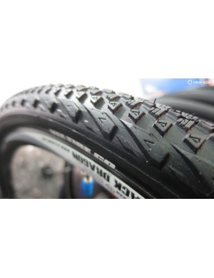 VEE's Rail gravel tyres have a bit of the old school mountain bike tread about them, only much shallower