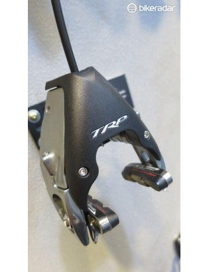 The reworked proprtions of the 850-series brakes they claim solve compatiblity issues on some chainstay brake mount framesets