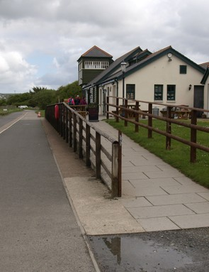 Old railway station on the Tarka Trail, Fremington Quay, Devon