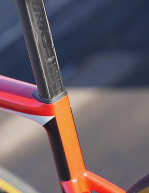 Specialized claims the Tarmac post is as aero as the original Venge seatpost