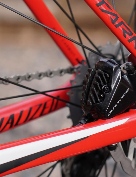 Shimano's Dura-Ace flatmount calipers are compact and powerful