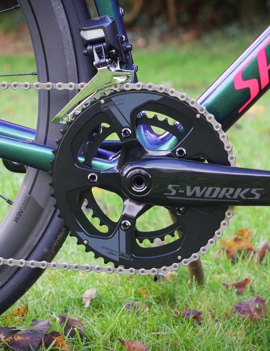 The own-brand cranks are the only non-groupset component