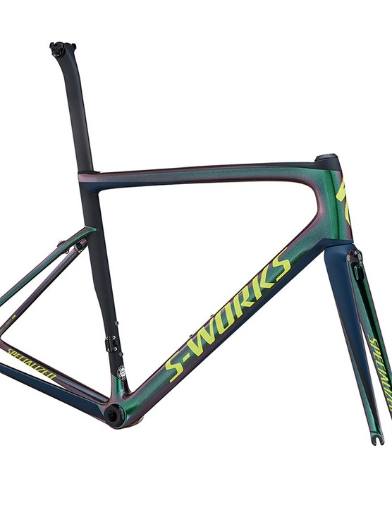 The new Tarmac comes in some wild colours, like this fluro pink and purple camo version