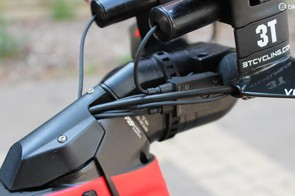 Given all the wires and cables, this is a tidy solution that still allows easy access to the Di2 junction box