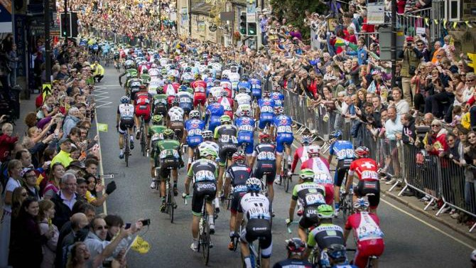 The crowds during stage one of the 2014 Tour de France