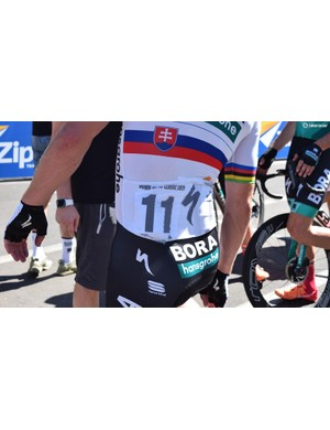 Peter Sagan's jersey also featured the aforementioned pockets